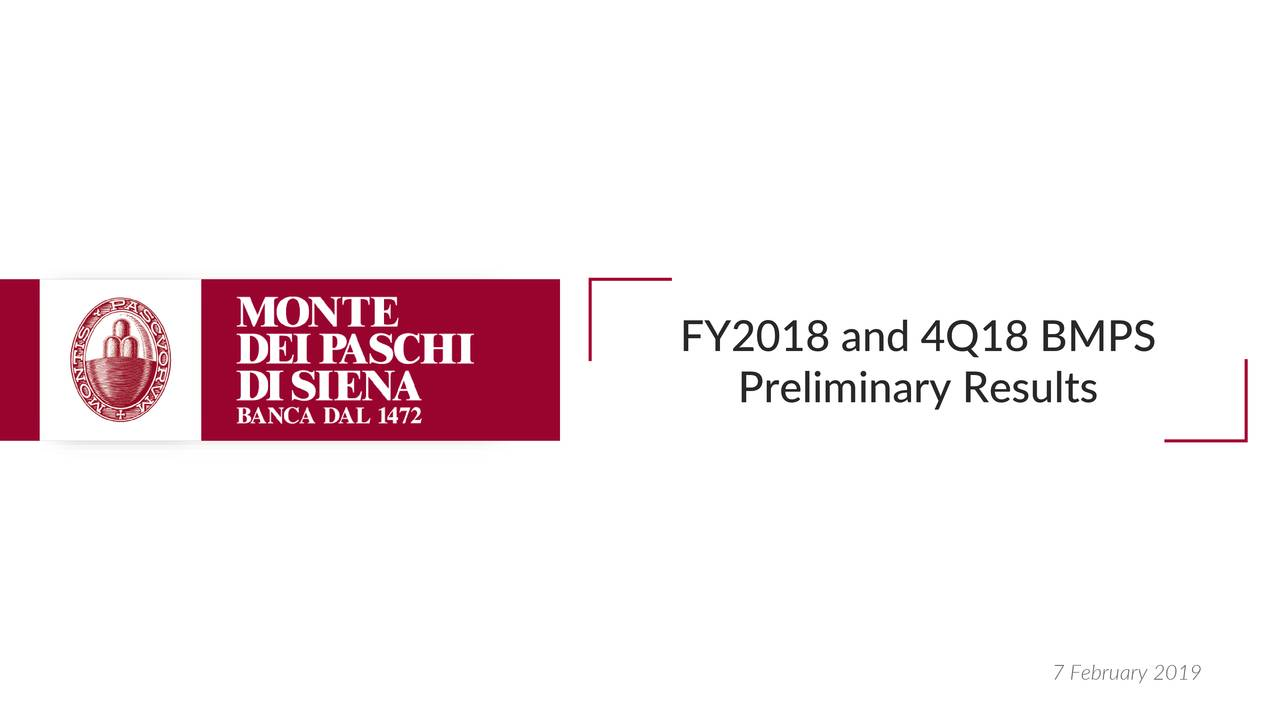 FY2018 and 4Q18 BMPS