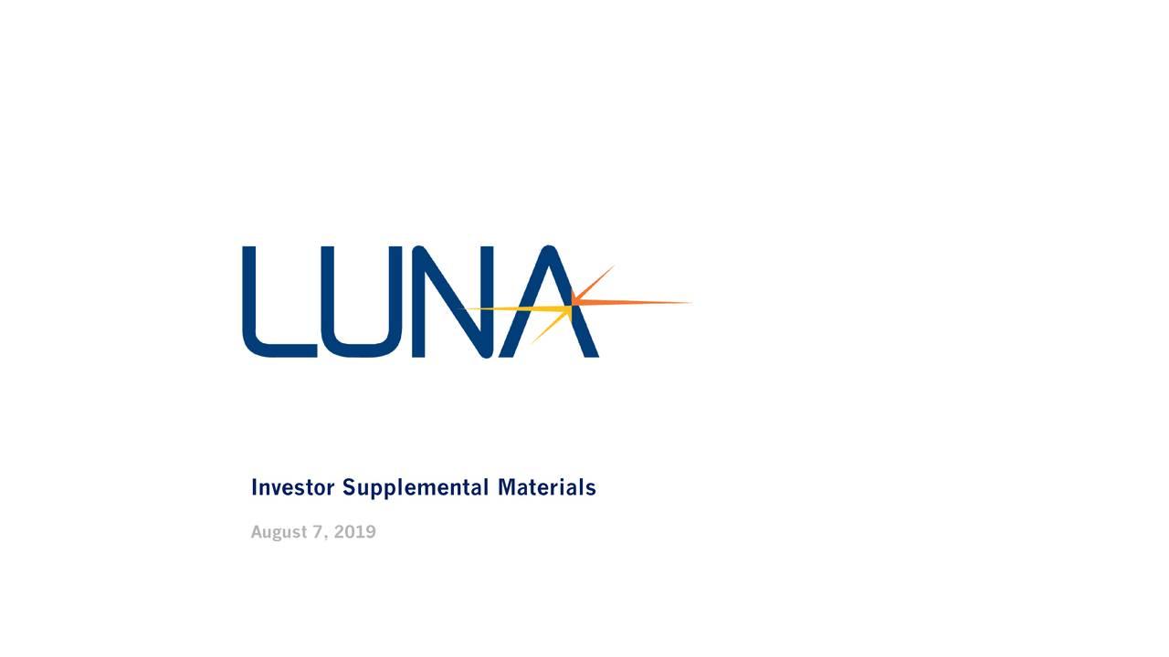 Investor Supplemental Materials