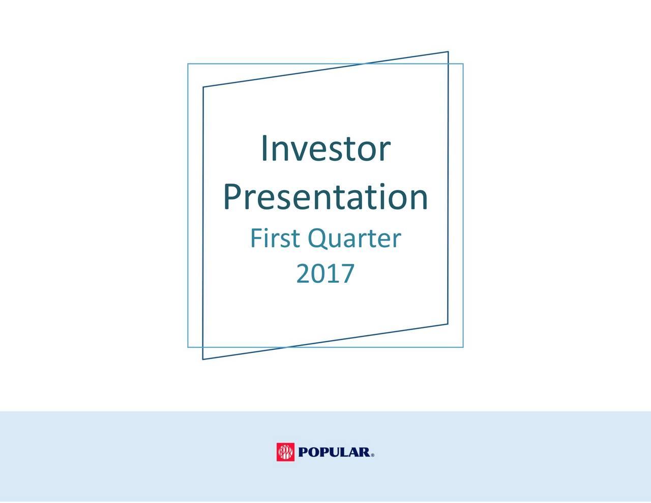 Presentation First Quarter 2017