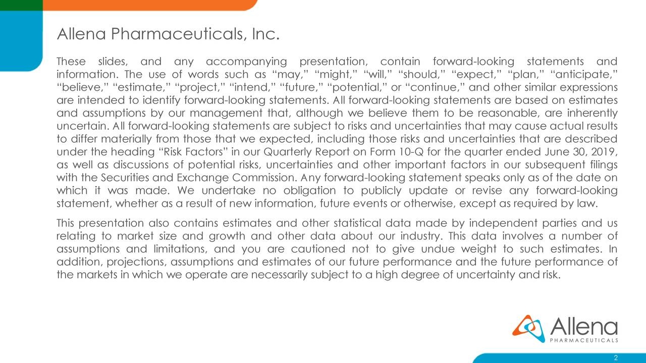 Allena Pharmaceuticals, Inc.