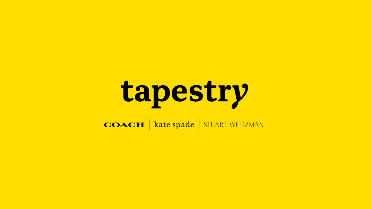 Earnings Disclaimer >> Tapestry, Inc. 2019 Q1 - Results - Earnings Call Slides - Tapestry, Inc. (NYSE:TPR) | Seeking Alpha