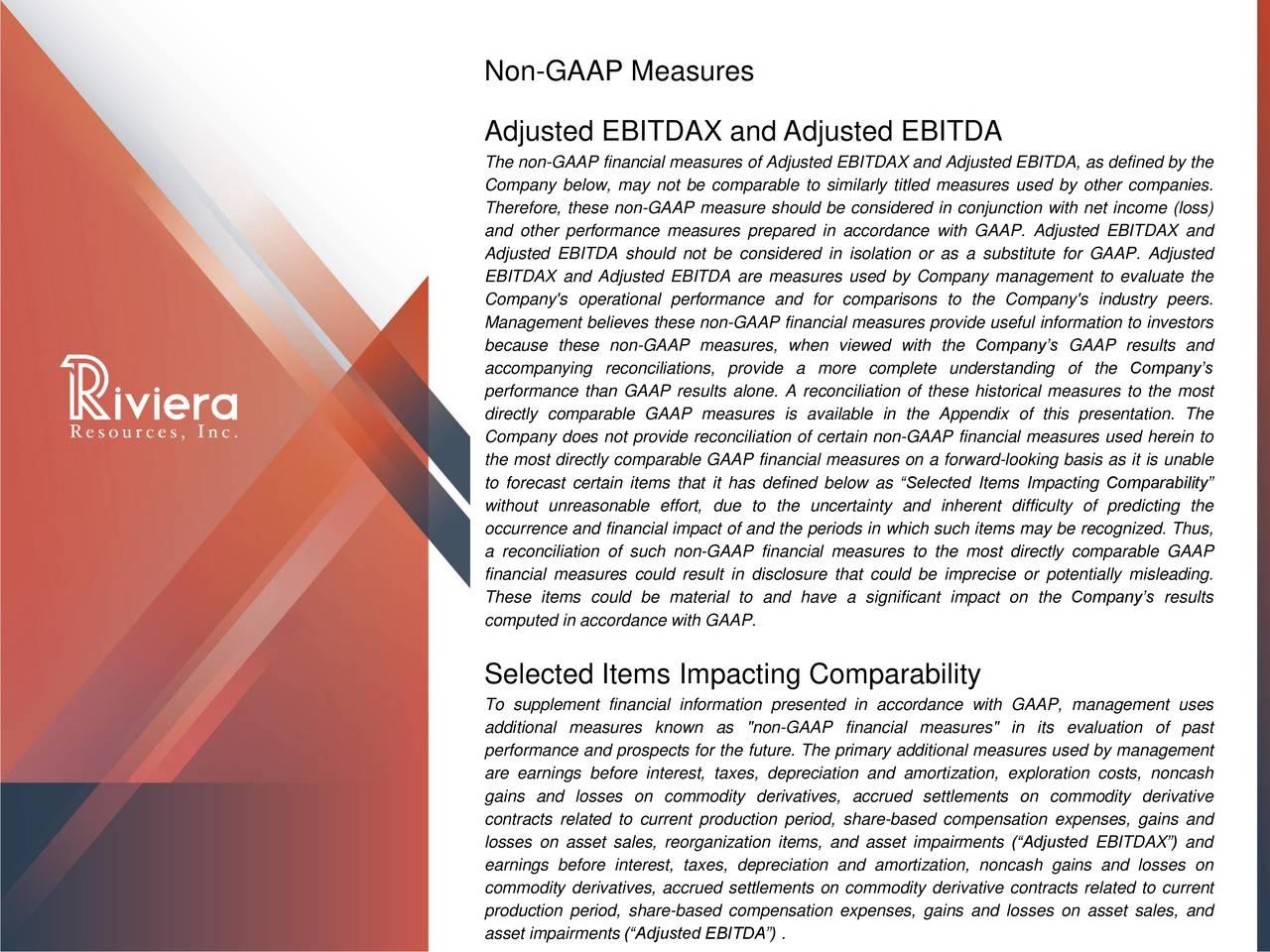 Non-GAAP Measures
