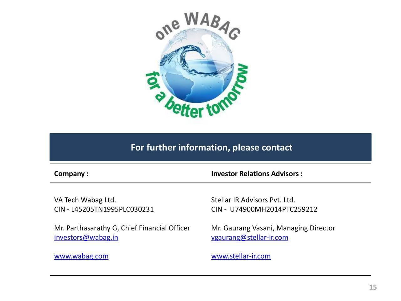 VA Tech Wabag Ltd ADR 2018 Q3 - Results - Earnings Call ...