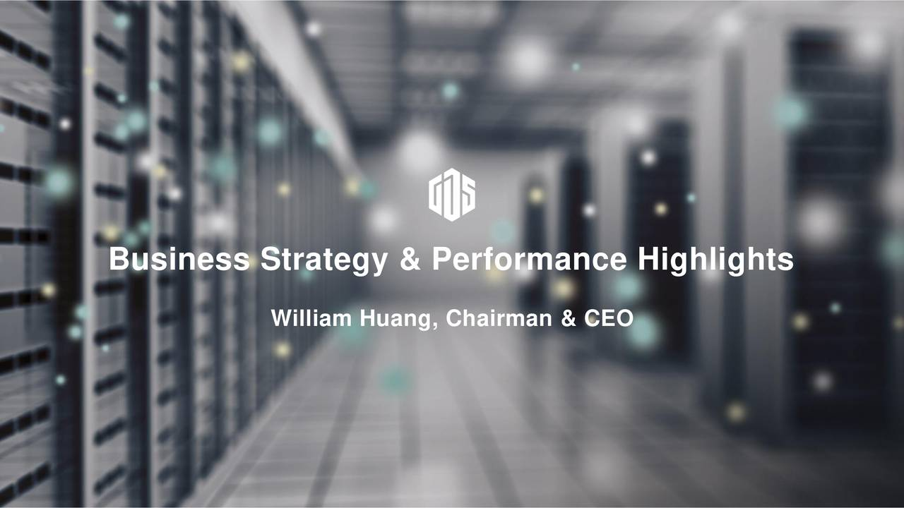 William Huang, Chairman & CEO © GDS 2016