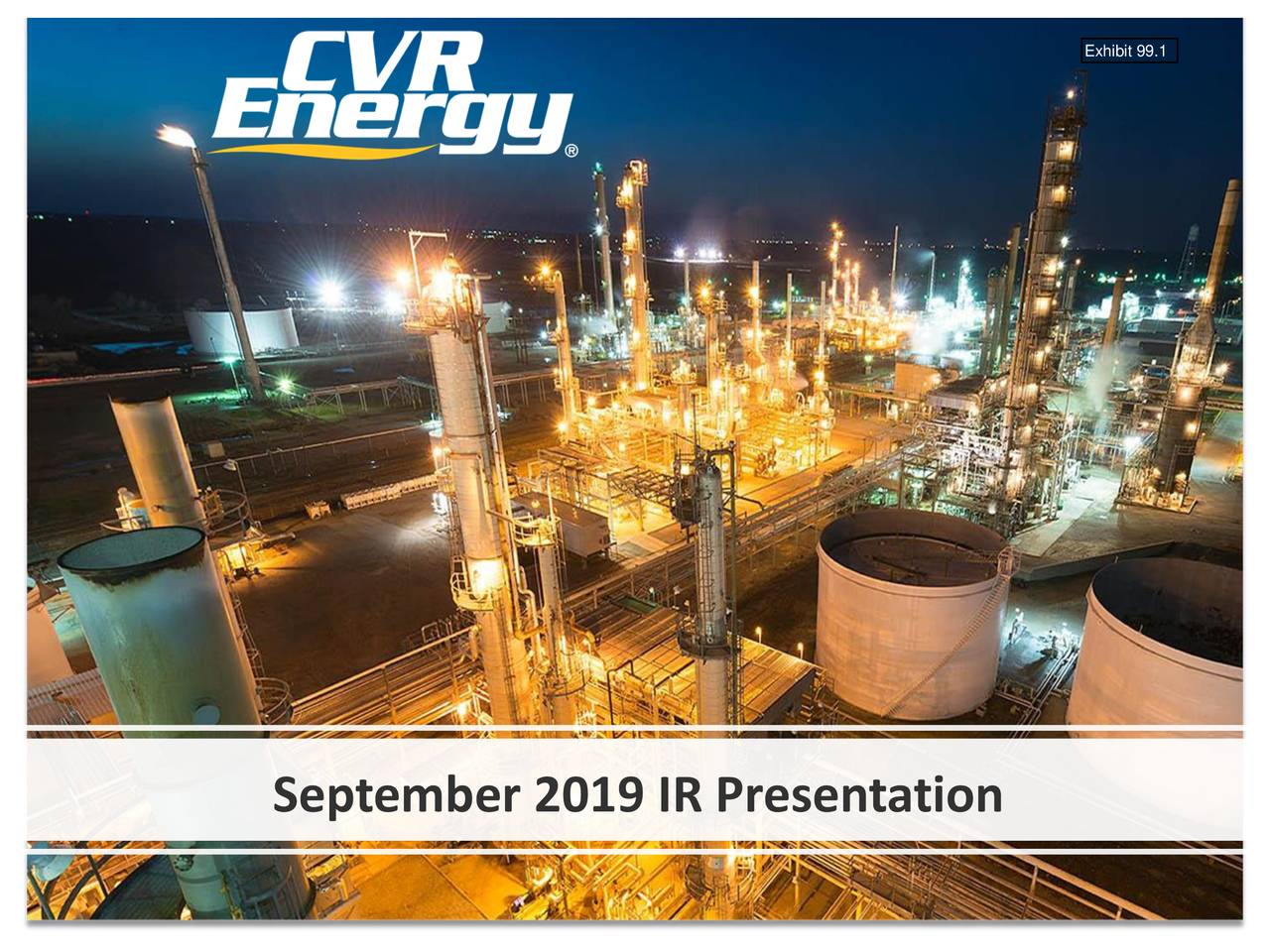 September 2019 IR Presentation