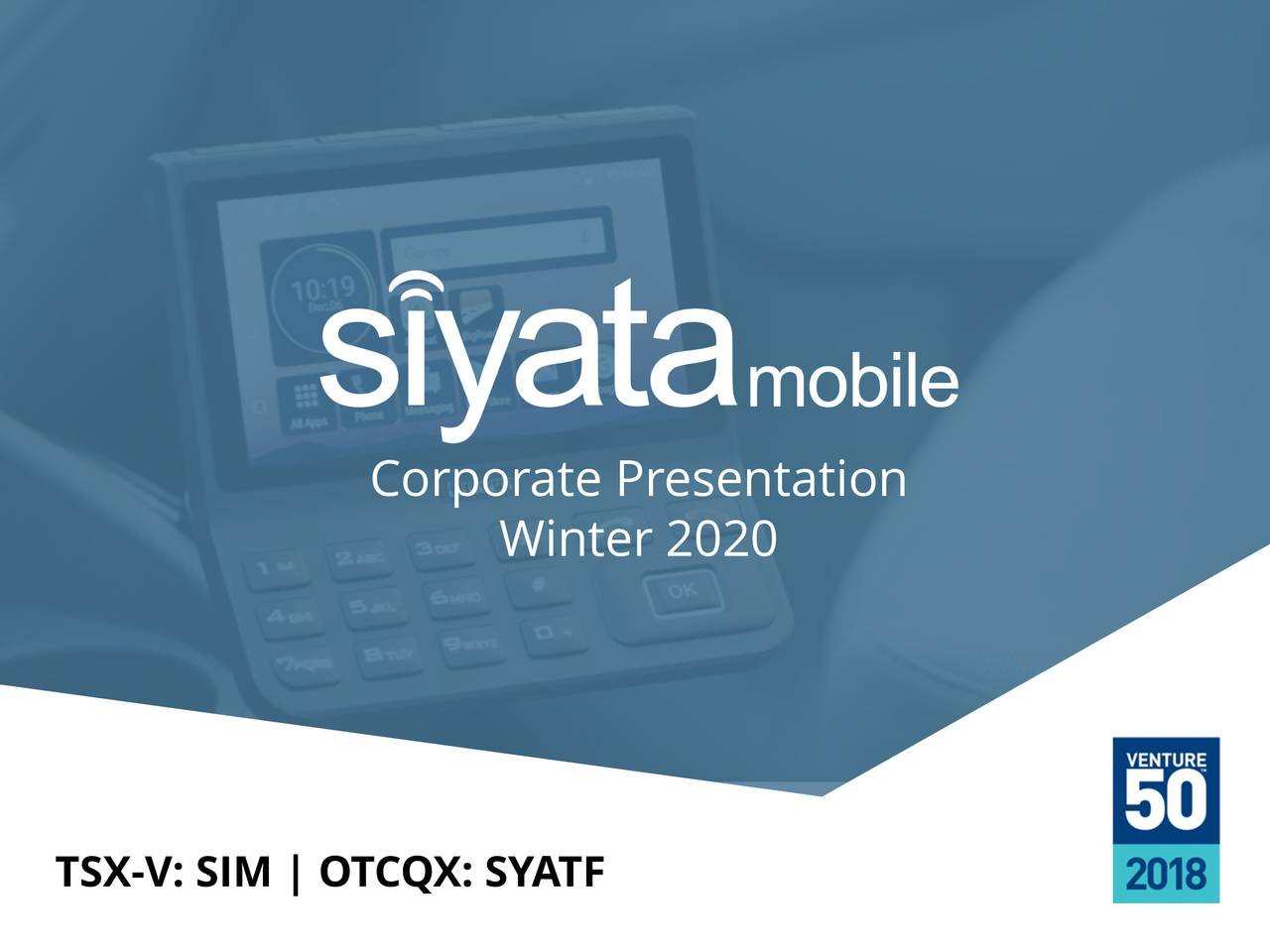 Siyata Mobile (SYATF) Investor Presentation - Slideshow - Siyata Mobile Inc. (OTCMKTS:SYATF) | Seeking Alpha
