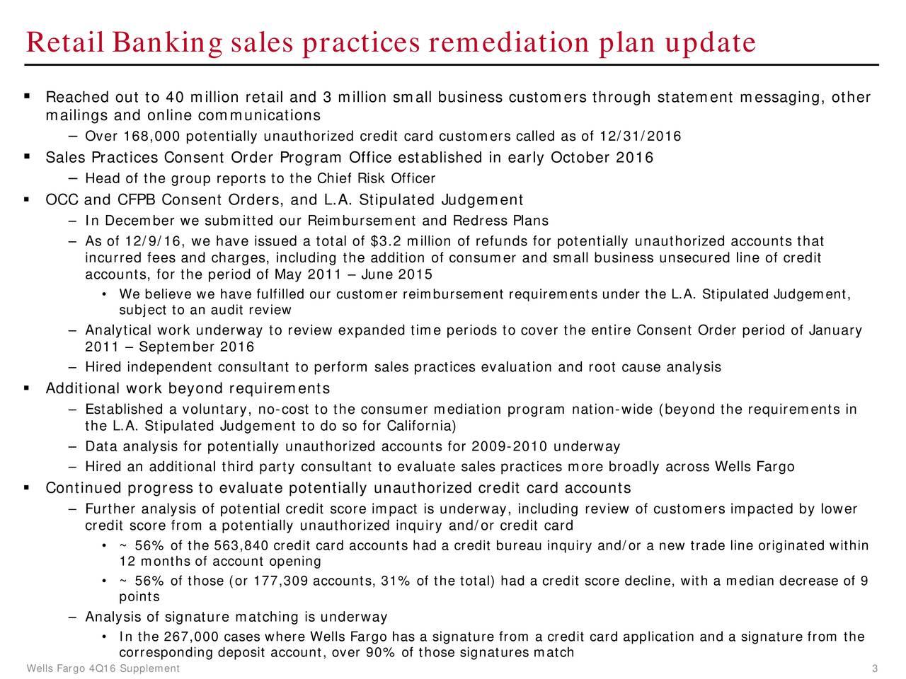 Wells Fargo Amp Co 2016 Q4 Results Earnings Call Slides