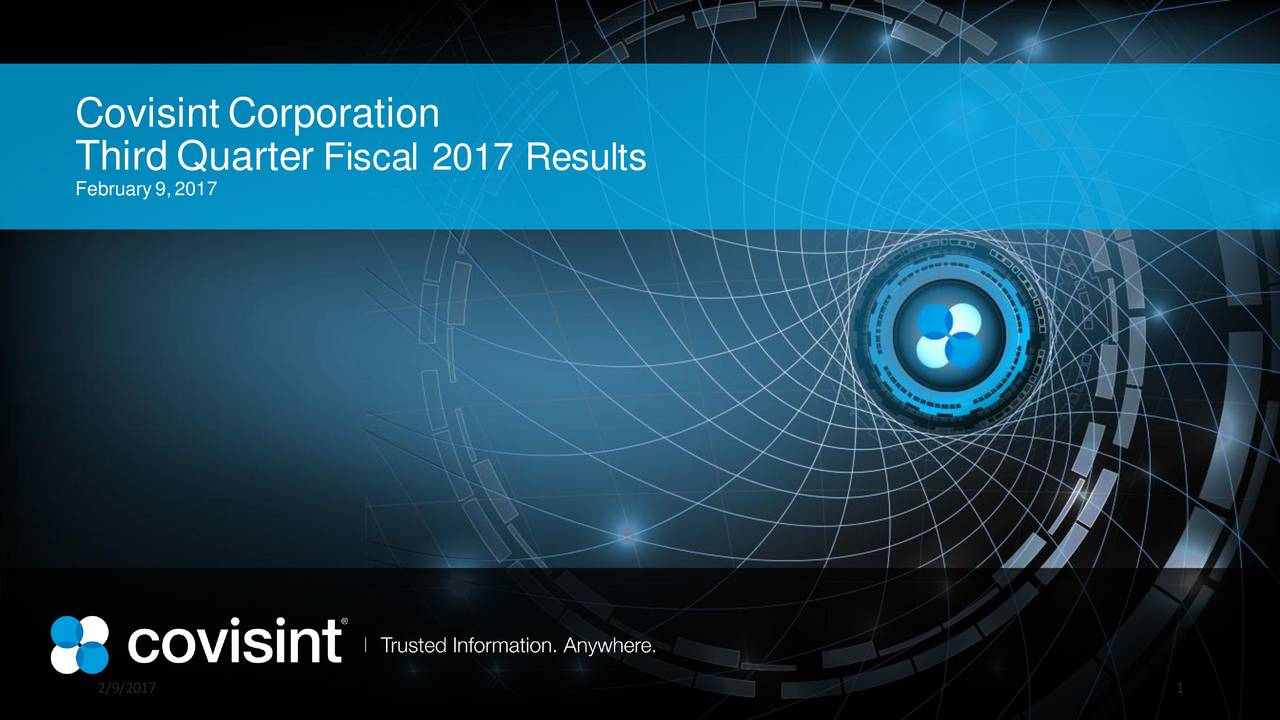 Third Quarter Fiscal 2017 Results February9,2017 2/9/2017 1