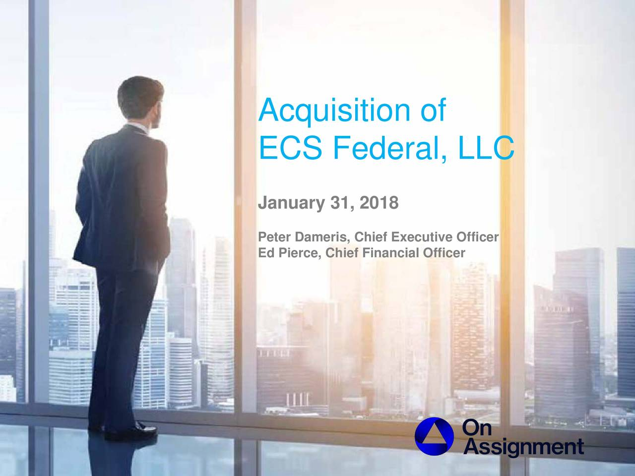 ecs federal llc january 31 2018 peter dameris chief executive officer ed pierce