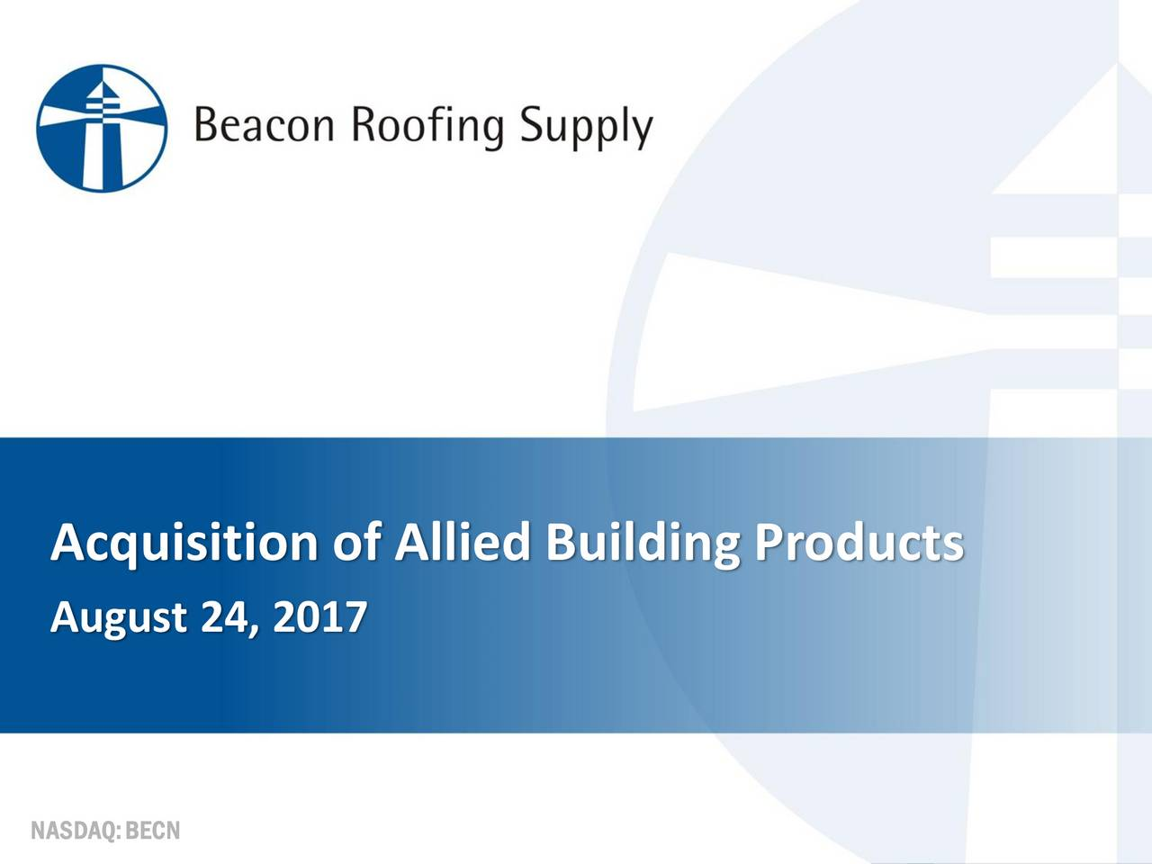 Perfect Beacon Roofing Supply Acquires CRH (CRH) U.S. Distribution Business For  $2.63B