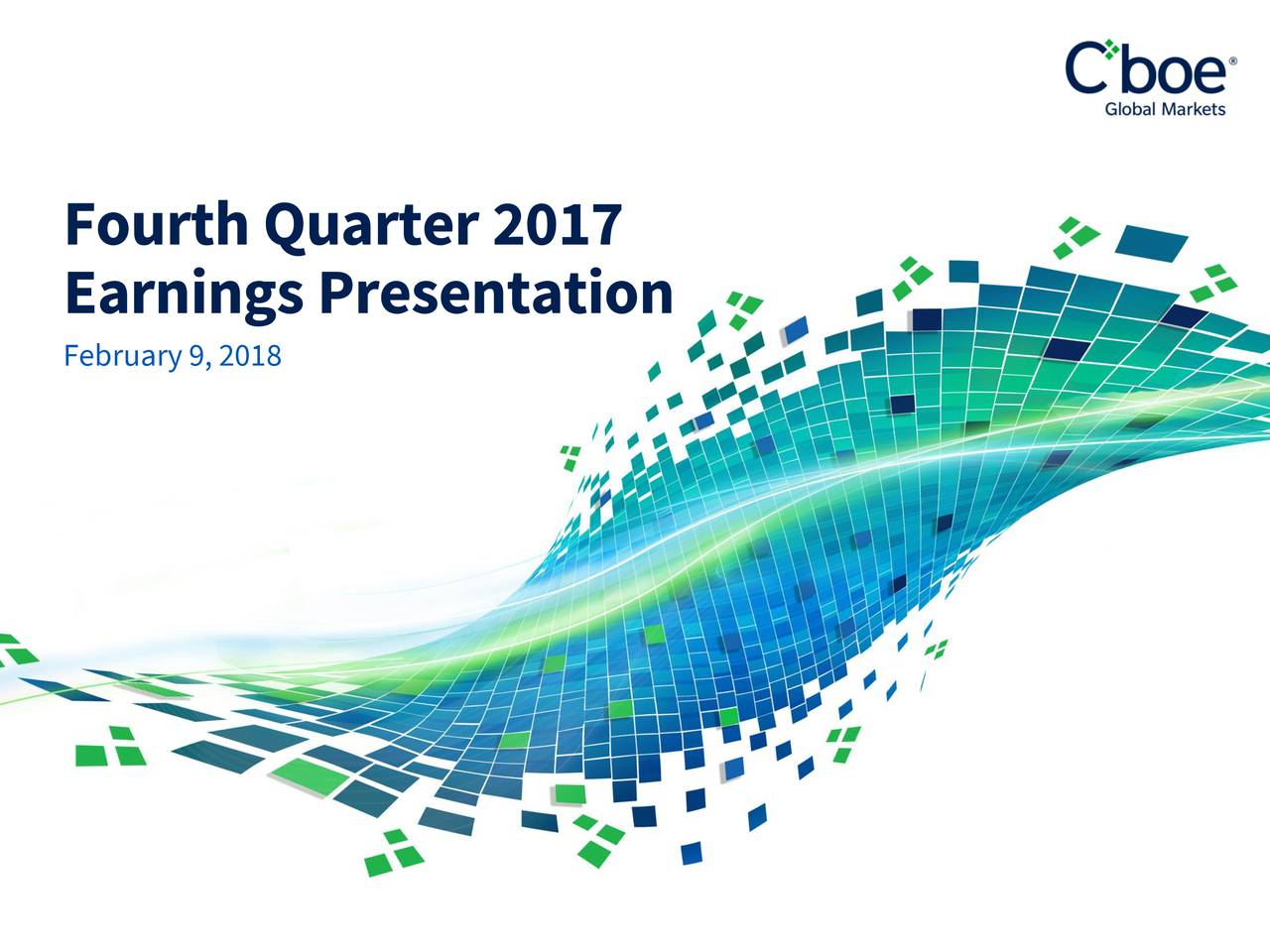 Cboe Global Markets (CBOE) Presents At Credit Suisse 19th