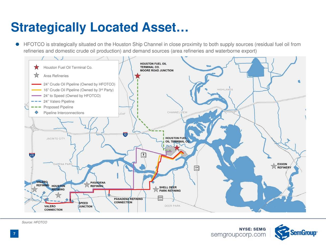 SemGroup SEMG Acquires Houston Fuel Oil Terminal Company For - Houston terminal map