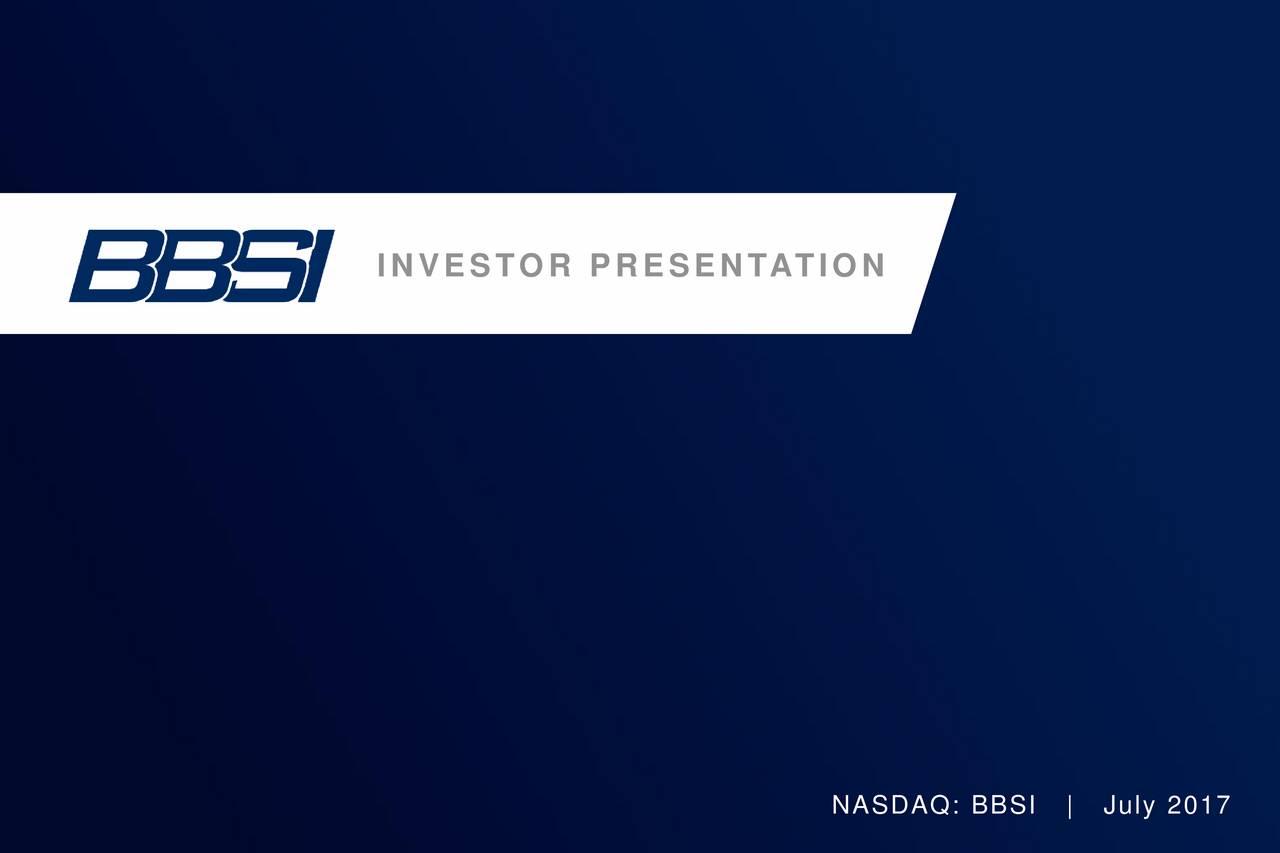 barrett business services bbsi investor presentation slideshow