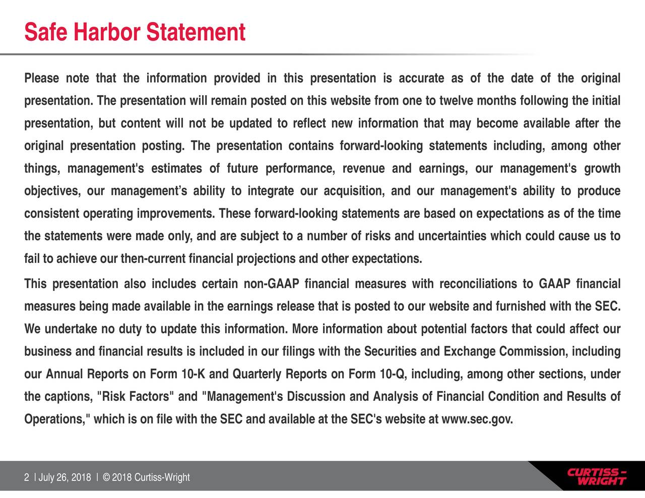 """s websitins forward-looking statements including, among otheriations to GAAP financialdition and Results of nce, revenue and earnings, our management's growth ooking statements are based on expectations as of the time rnings release that is posted to our website and furnished with the SEC. Safe Pleasrenpresenganangprjseavetenoftolsnni.bmhitetaohsettrstancOaarolcab""""iatkonecss1"""