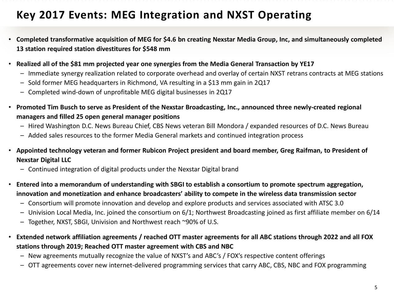 Nexstar media nxst presents at 26th annual media for 13 bureau ims llc