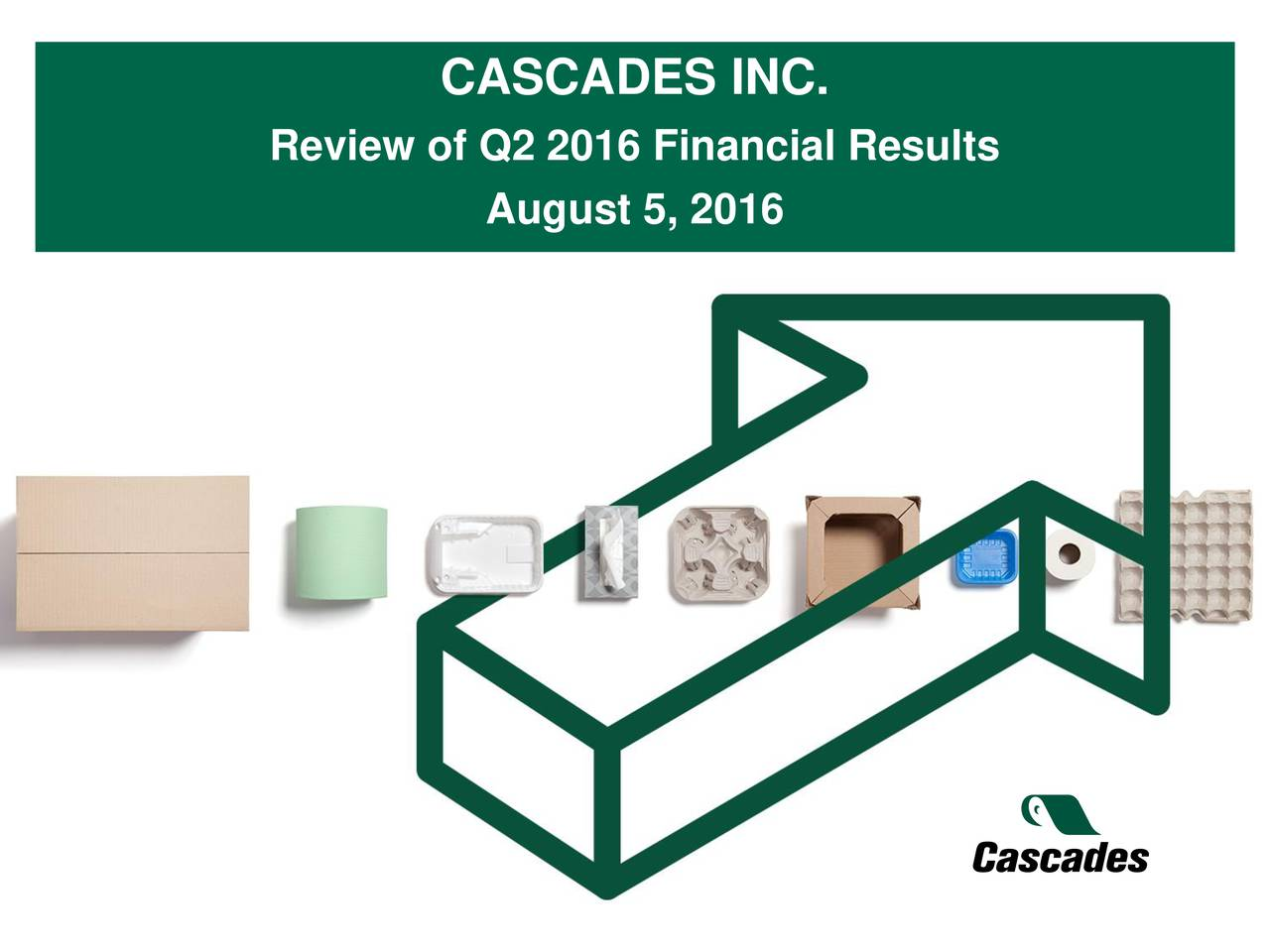 Review of Q2 2016 Financial Results August 5, 2016