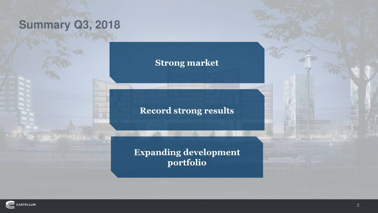 Strong market Record strong results Expanding development portfolio 2