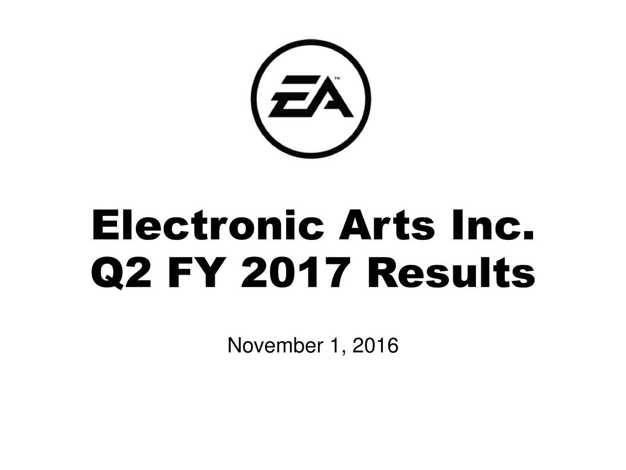 Q2 FY 2017 Results November 1, 2016