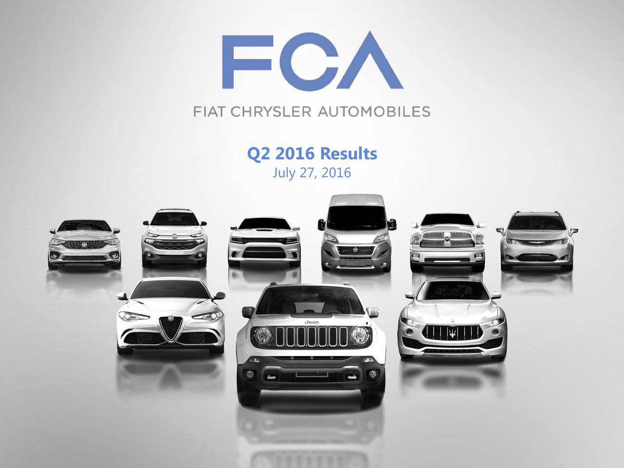 Fiat Chrysler Automobiles Nv 2016 Q2 Results Earnings Call