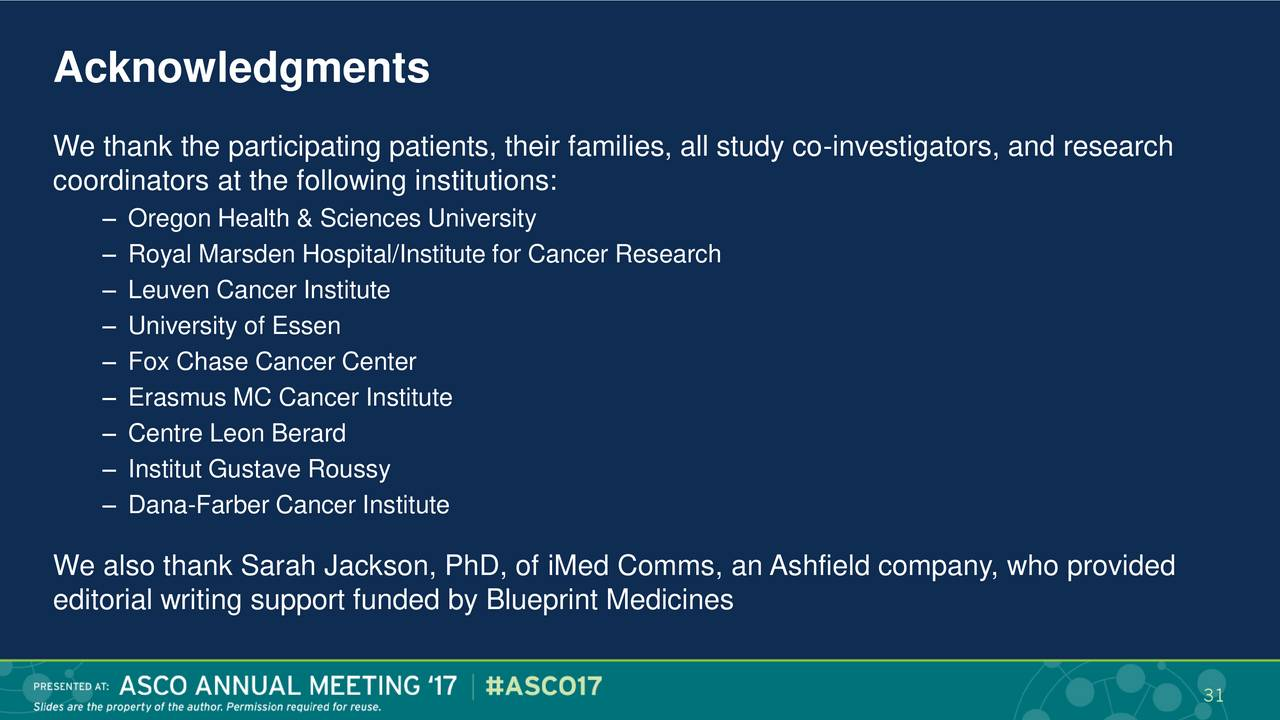 Blueprint medicines bpmc presents at asco 2017 advances in gist blueprint medicines bpmc presents at asco 2017 advances in gist slideshow blueprint medicines nasdaqbpmc seeking alpha malvernweather Gallery