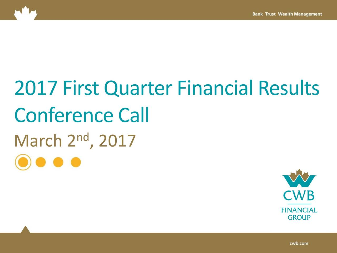 ConferenceCall nd March 2 , 2017