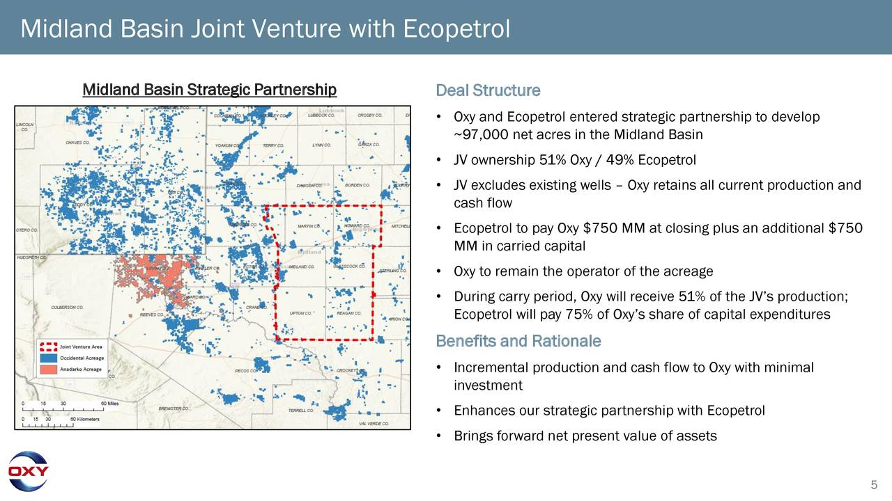 Midland Basin Joint Venture with Ecopetrol