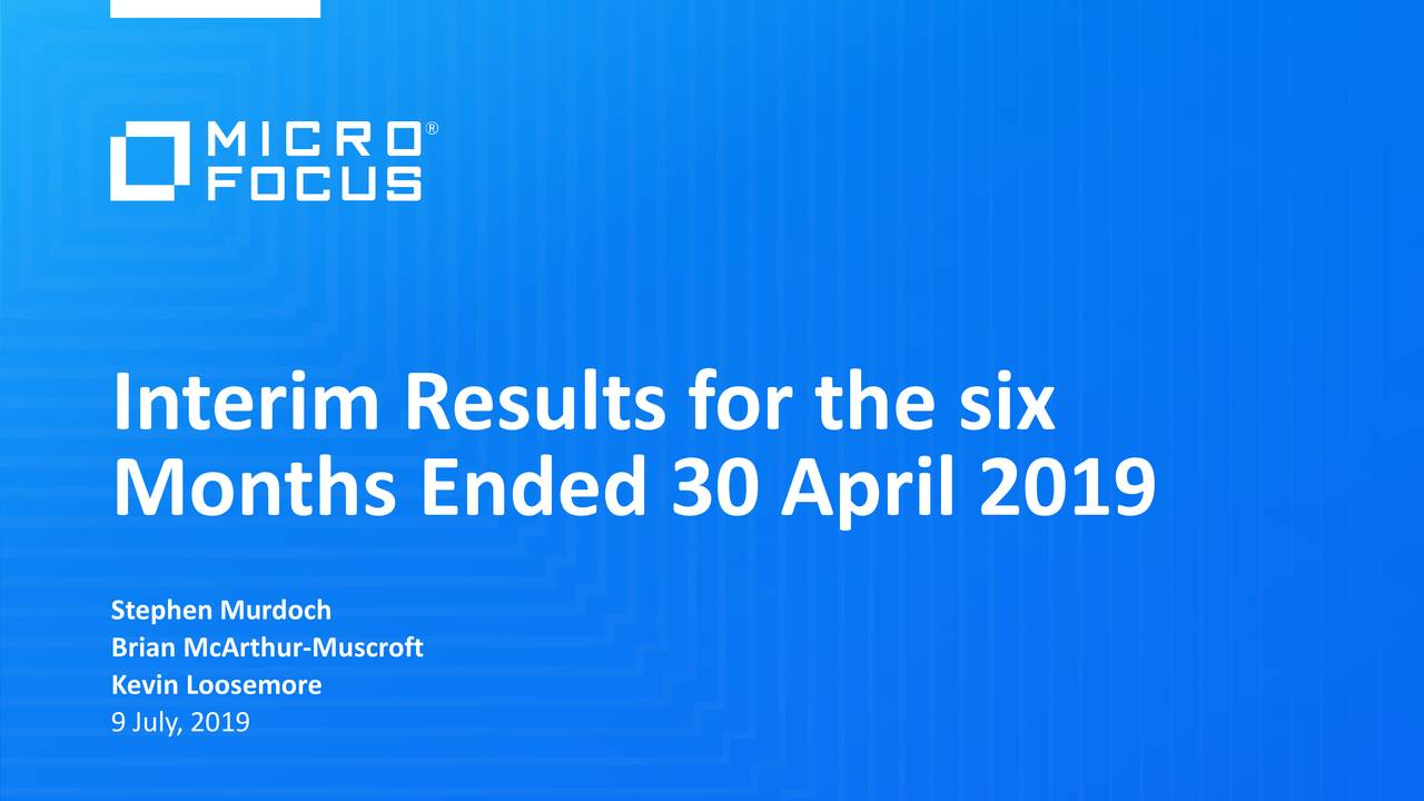 Interim Results for the six