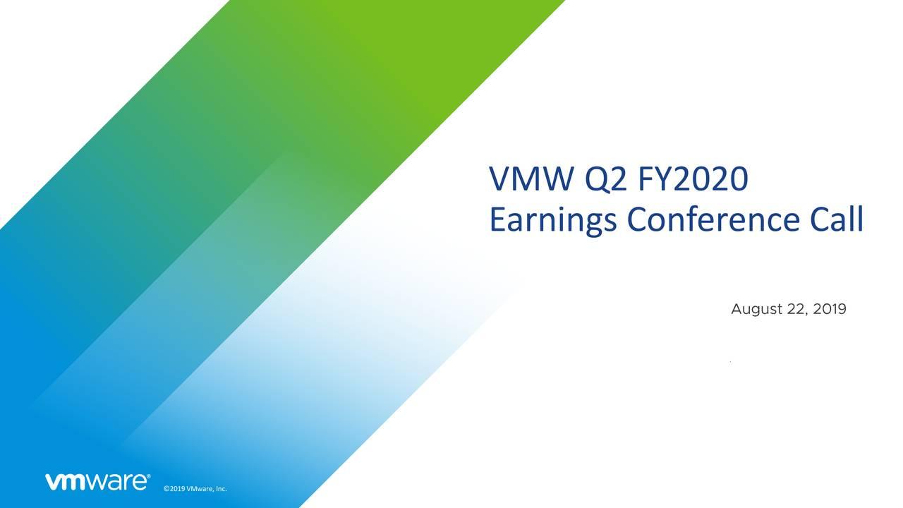 VMware, Inc. 2020 Q2 - Results - Earnings Call Slides