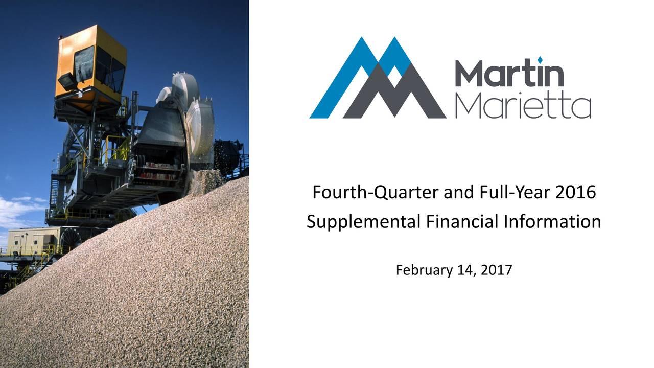 Supplemental Financial Information February 14, 2017