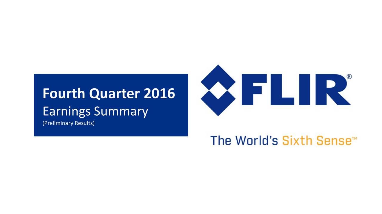 Earnings Summary (Preliminary Results)