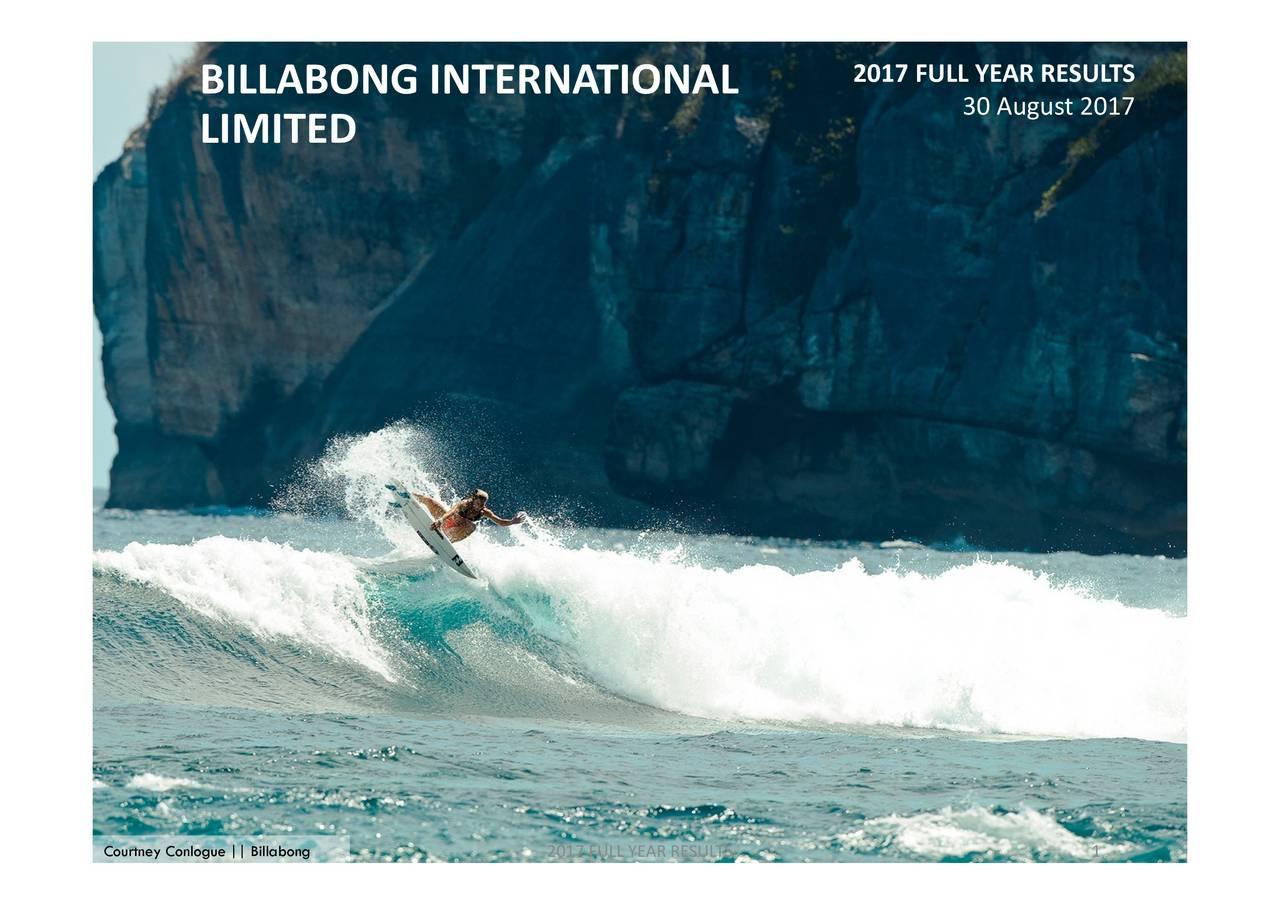 Billabong international ltd