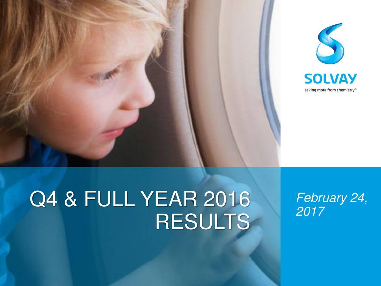 Q4 & FULL YEAR 2016 2017 RESUL TS