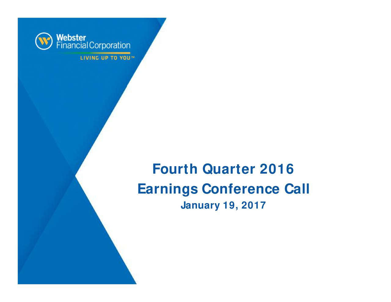 Earnings Conference Call January 19, 2017