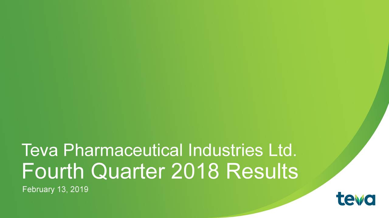 31dcdd332cf54a Teva Pharmaceutical Industries Limited 2018 Q4 - Results - Earnings ...