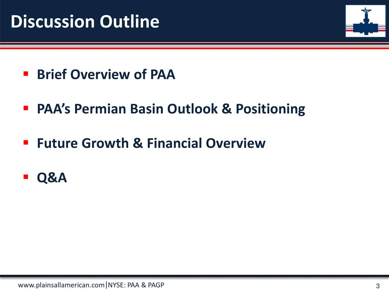 Brief Overview of PAA PAAs Permian Basin Outlook & Positioning Future Growth & Financial Overview Q&A
