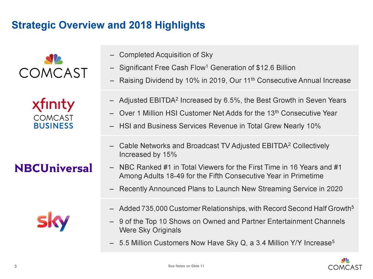 Comcast Corporation 2018 Q4 - Results - Earnings Call Slides
