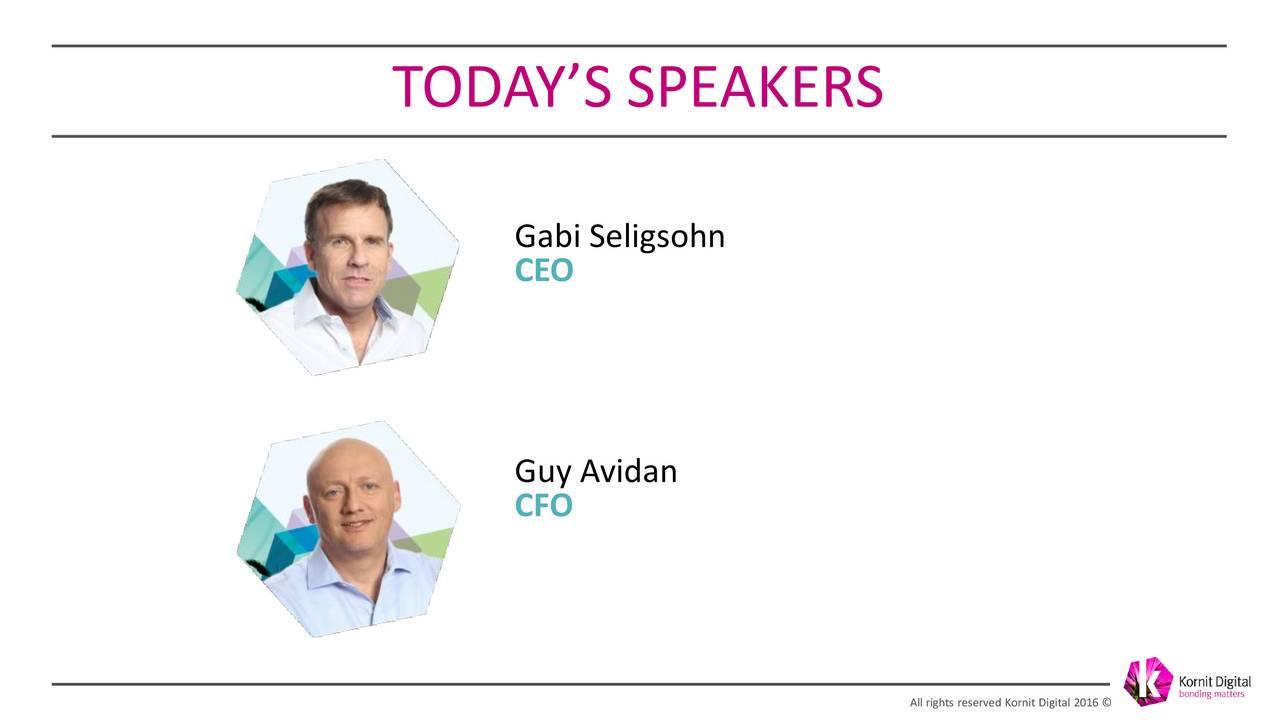 Gabi Seligsohn CEO Guy Avidan CFO