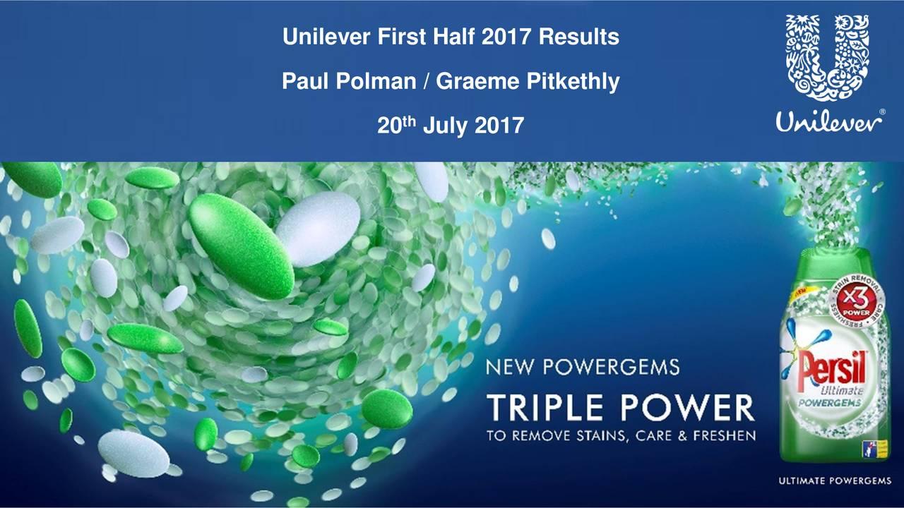 Paul Polman / Graeme Pitkethly 20 July 2017