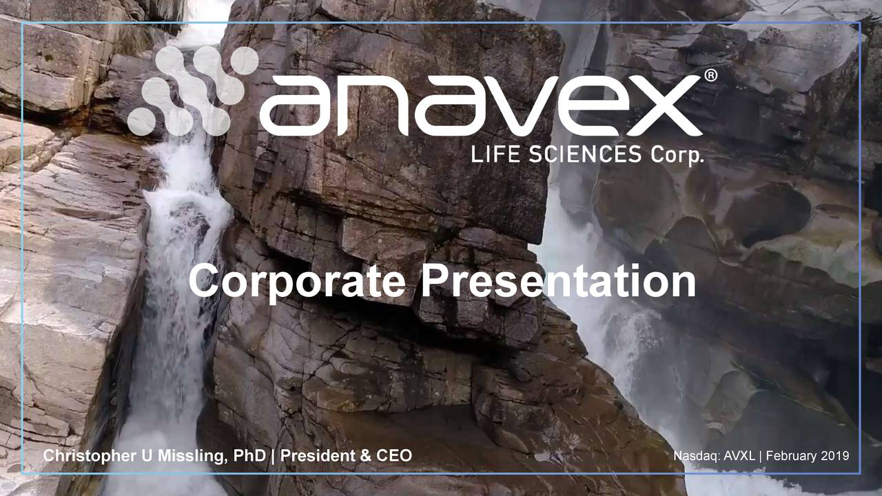 Anavex Life Sciences (AVXL) Presents At BIO CEO & Investor Conference - Slideshow