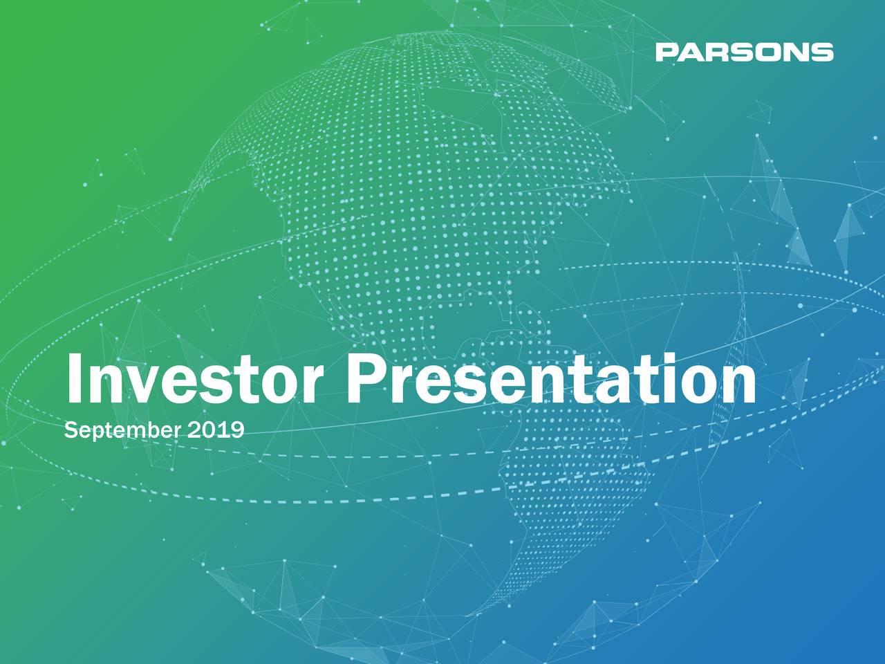 Parsons (PSN) Investor Presentation - Slideshow