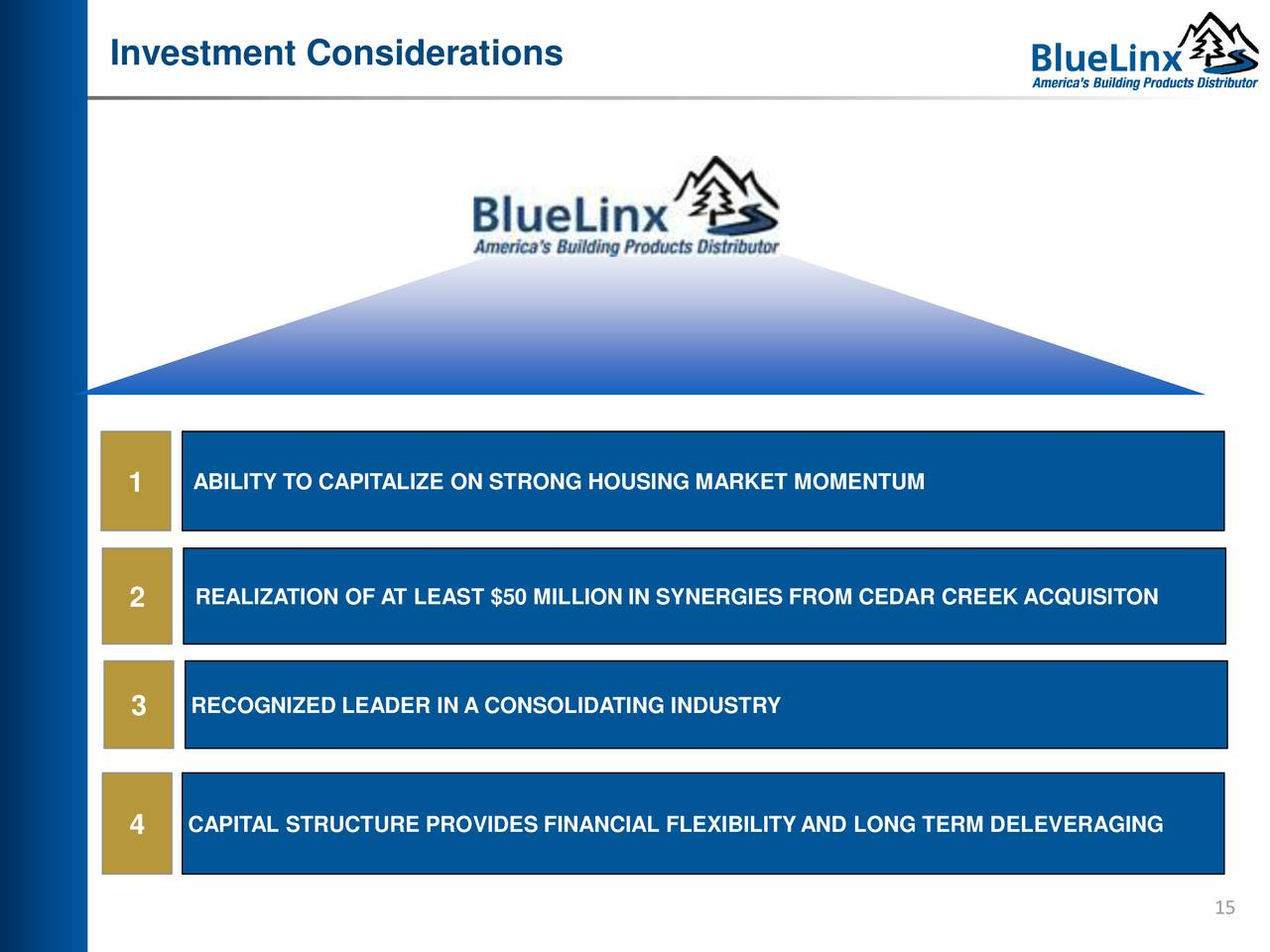 BlueLinx (BXC) Presents at Three Part Advisors Midwest IDEAS