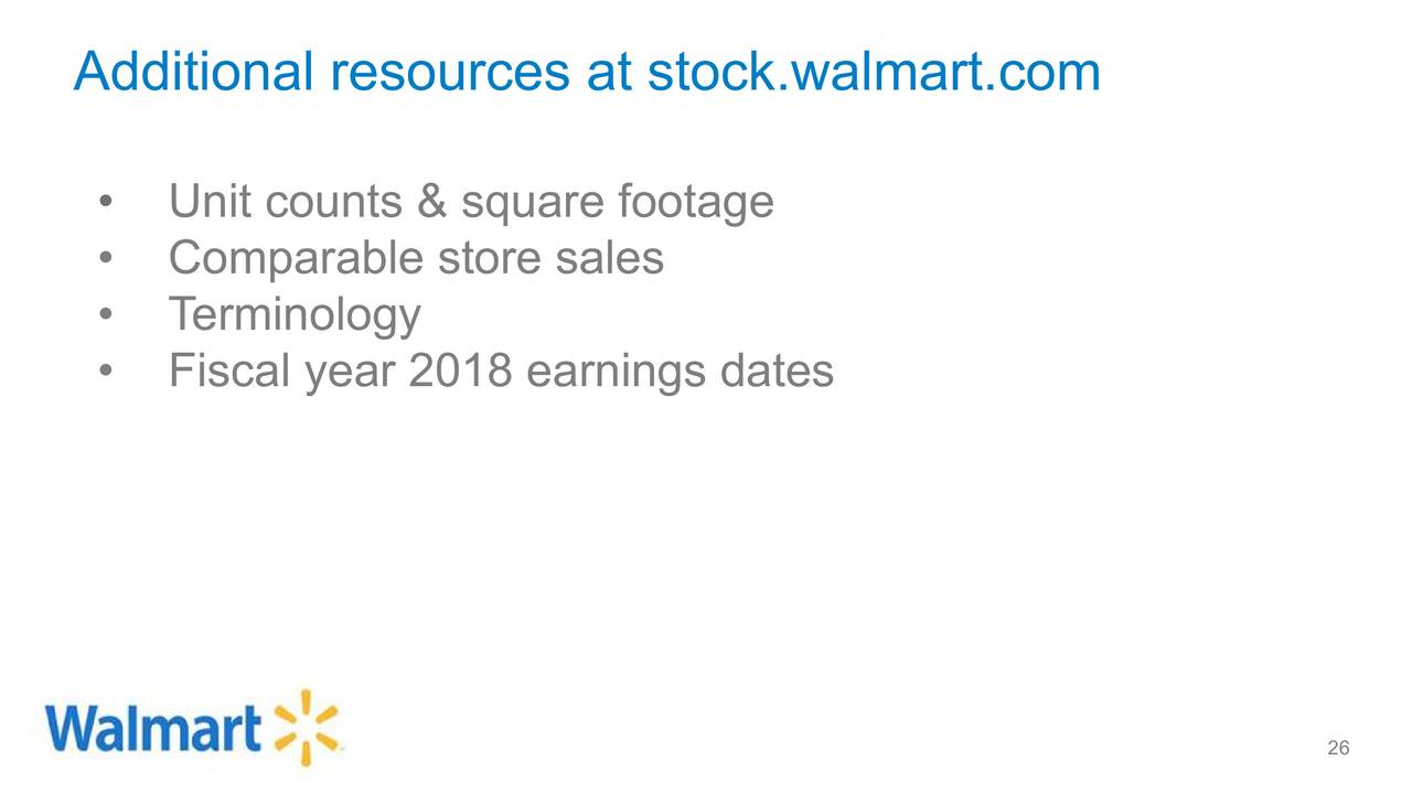 Wal-Mart Stores, Inc. 2018 Q1 - Results - Earnings Call Slides ...