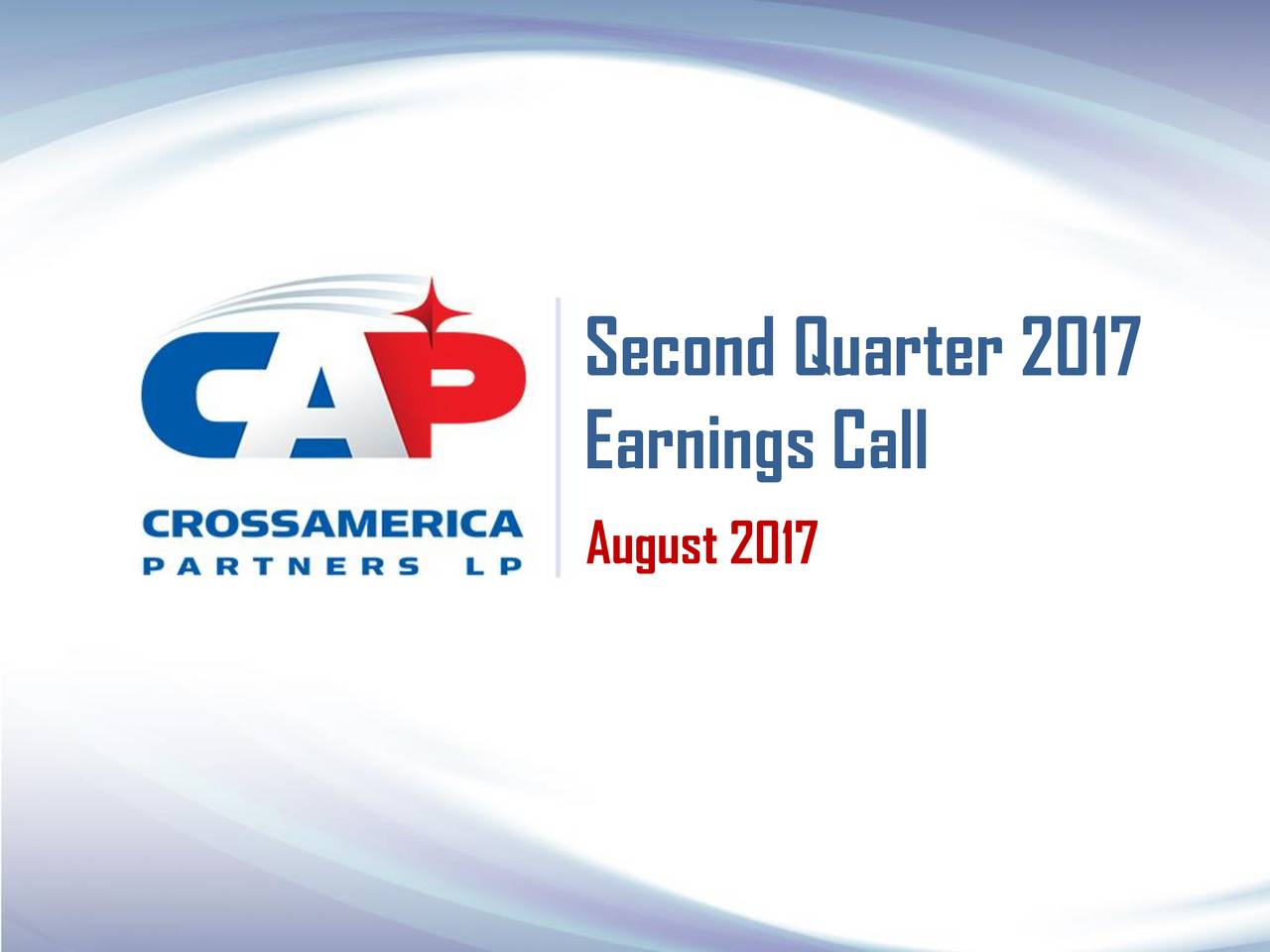 Earnings Call August 2017