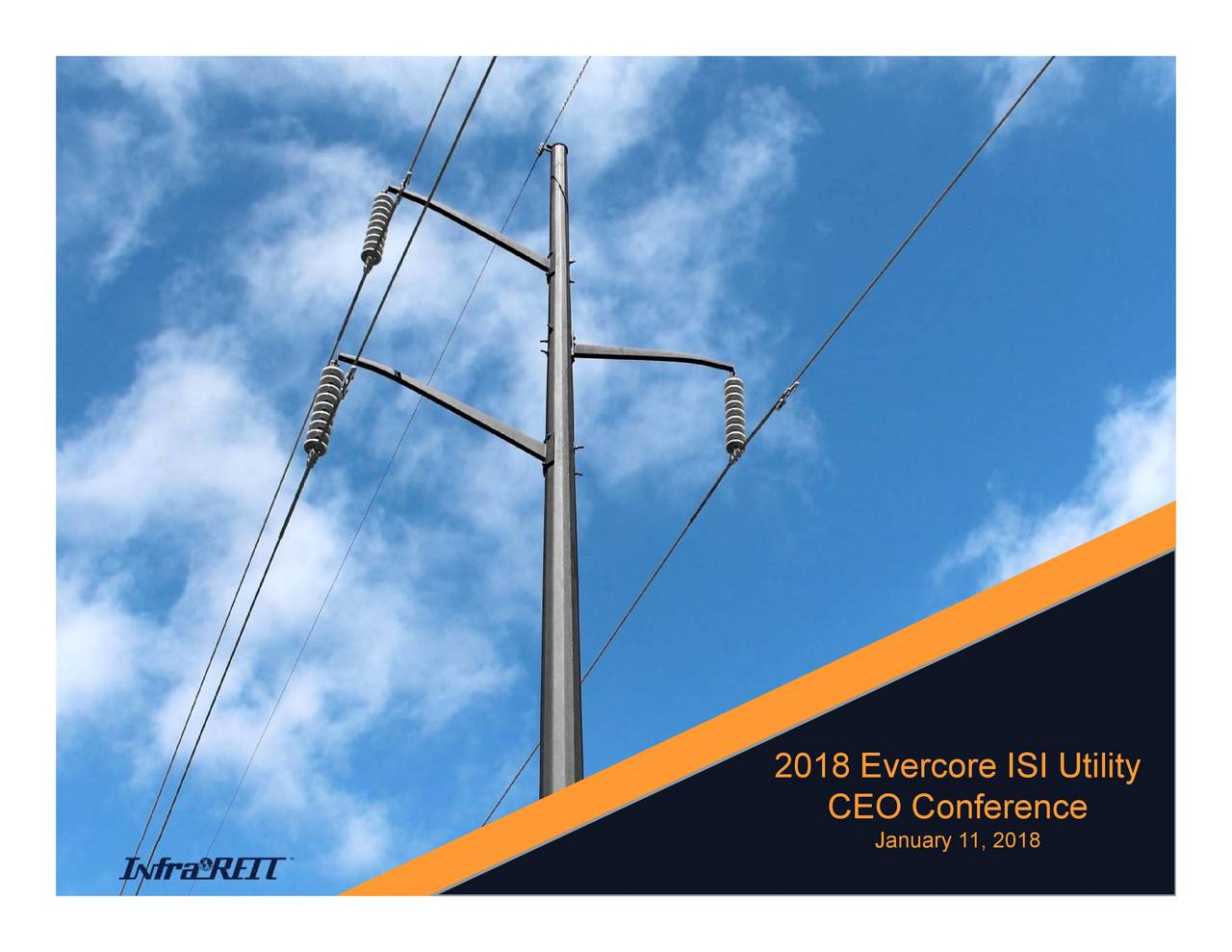 CEO Conference 2018 Evercore ISI Utility