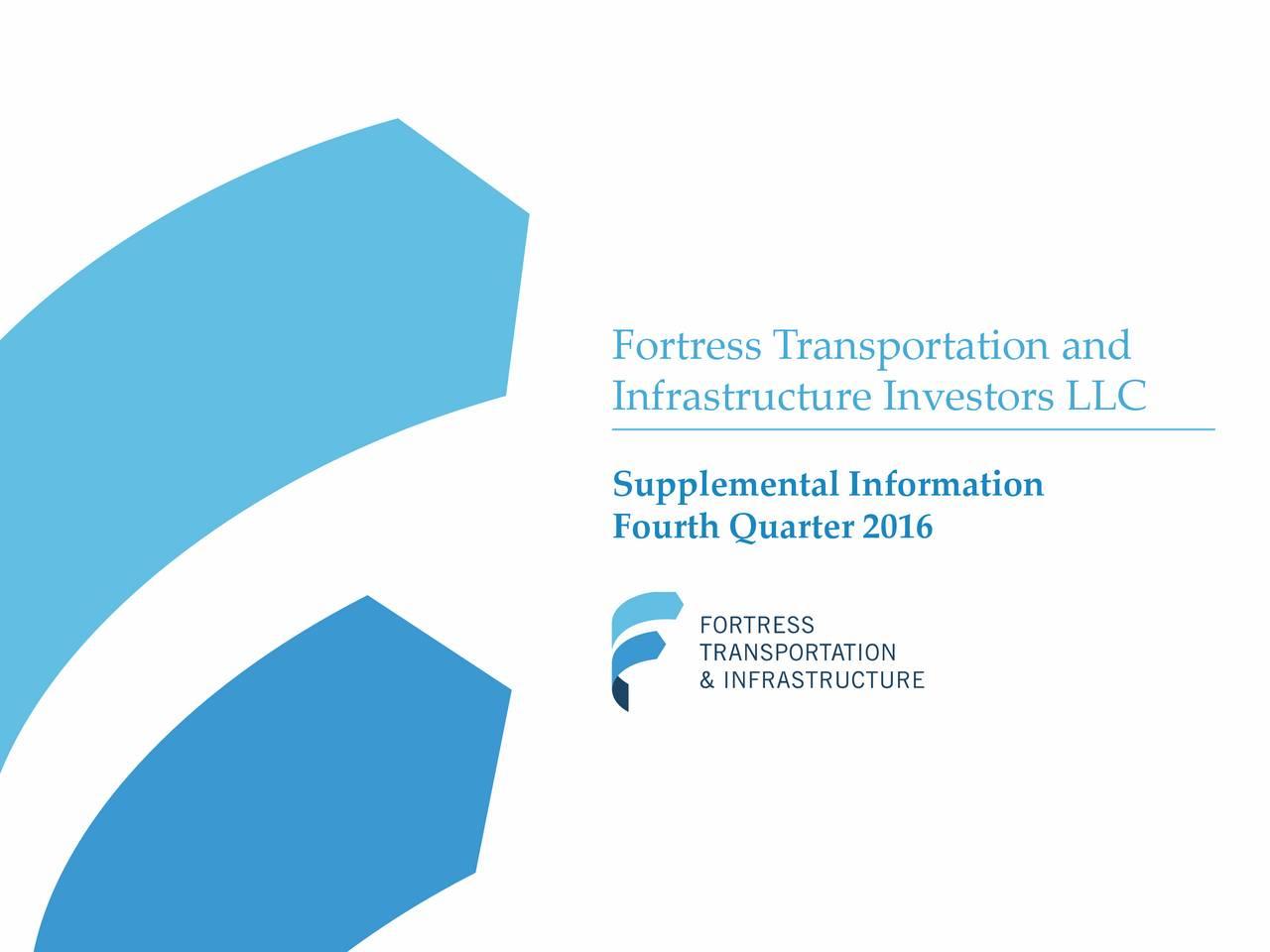 Infrastructure Investors LLC Supplemental Information Fourth Quarter 2016