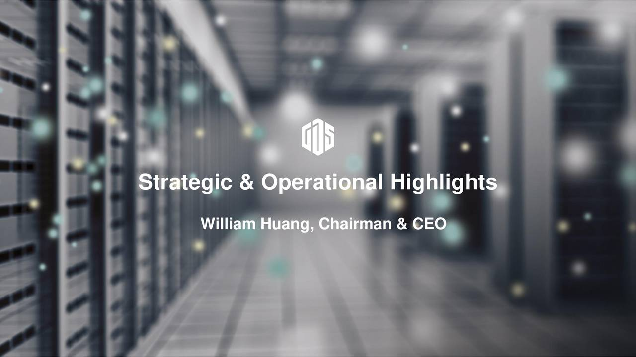 William Huang, Chairman & CEO GDS 2016