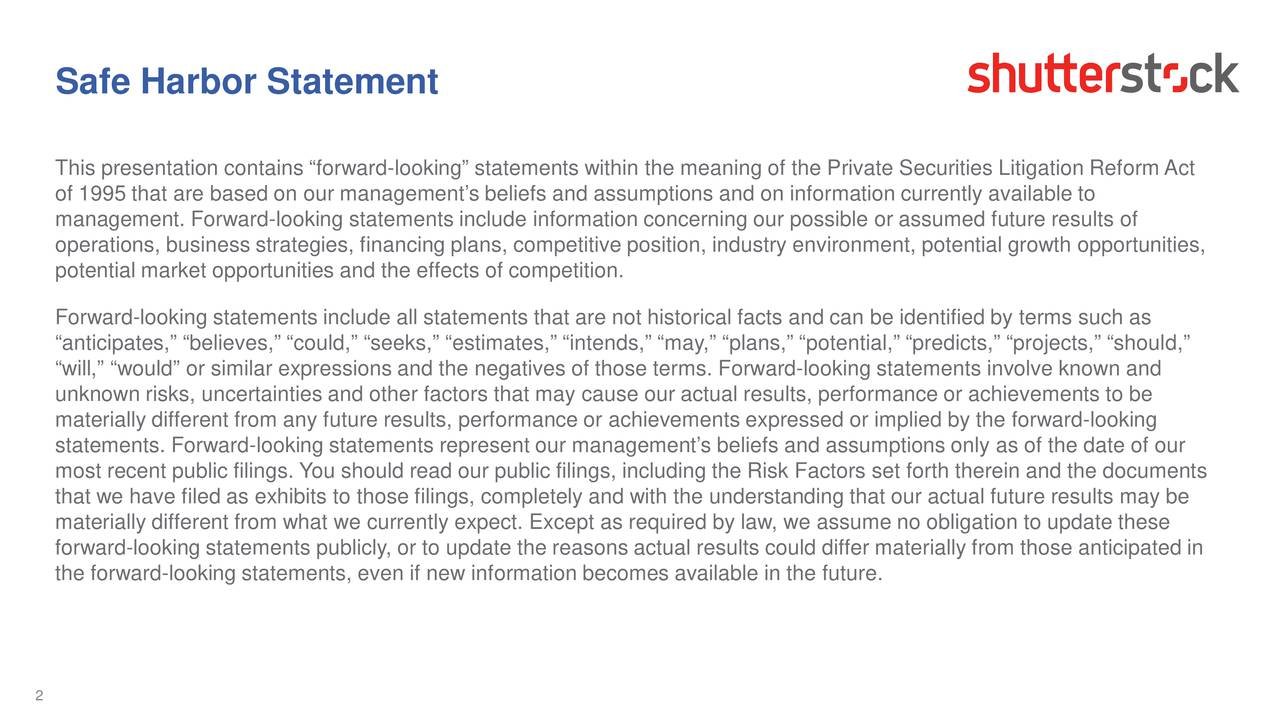 This presentation contains forward-looking statements within the meaning of the Private Securities Litigation Reform Act of 1995 that are based on our managements beliefs and assumptions and on information currently available to management. Forward-looking statements include information concerning our possible or assumed future results of operations, business strategies, financing plans, competitive position, industry environment, potential growth opportunities, potential market opportunities and the effects of competition. Forward-looking statements include all statements that are not historical facts and can be identified by terms such as anticipates, believes, could, seeks, estimates, intends, may, plans, potential, predicts, projects, shoul d, will, would or similar expressions and the negatives of those terms. Forward-looking statements involve known and unknown risks, uncertainties and other factors that may cause our actual results, performance or achievements to be materially different from any future results, performance or achievements expressed or implied by the forward-looking statements. Forward-looking statements represent our managements beliefs and assumptions only as of the date of our most recent public filings. You should read our public filings, including the Risk Factors set forth therein and the documents that we have filed as exhibits to those filings, completely and with the understanding that our actual future results may be materially different from what we currently expect. Except as required by law, we assume no obligation to update these forward-looking statements publicly, or to update the reasons actual results could differ materially from those anticipated in the forward-looking statements, even if new information becomes available in the future. 2