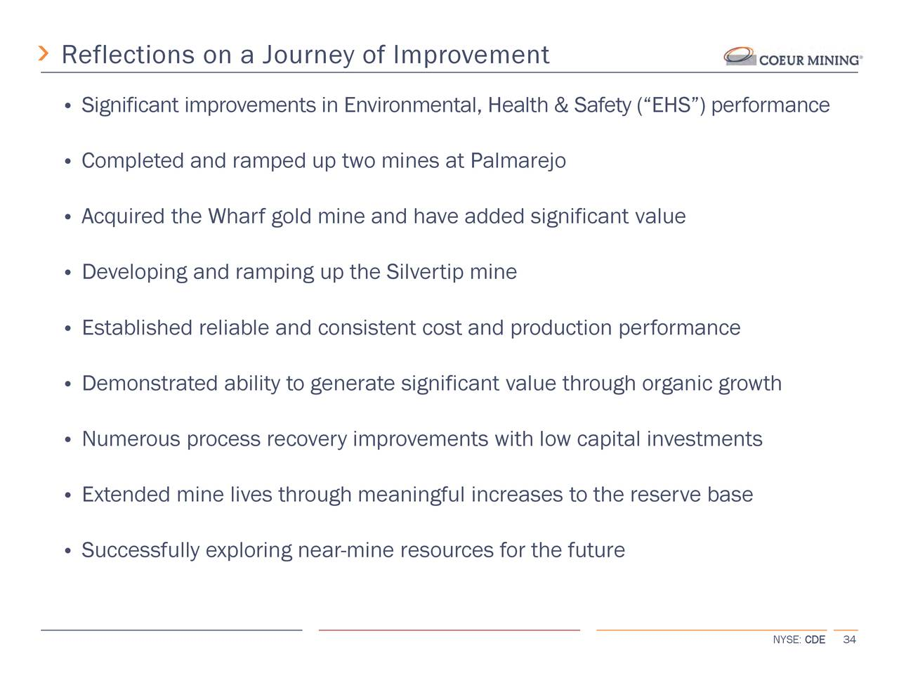 Coeur Mining (CDE) Investor Presentation - Slideshow - Coeur Mining