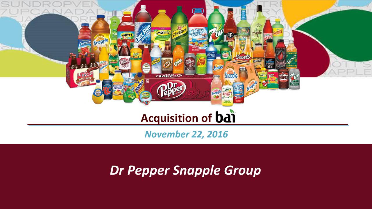 dr pepper snapple group inc essay The difficult part however is getting these loyal customers due to the above mentioned conditions, we find it a viable statement to describe the energy beverage market as profitable but tough.