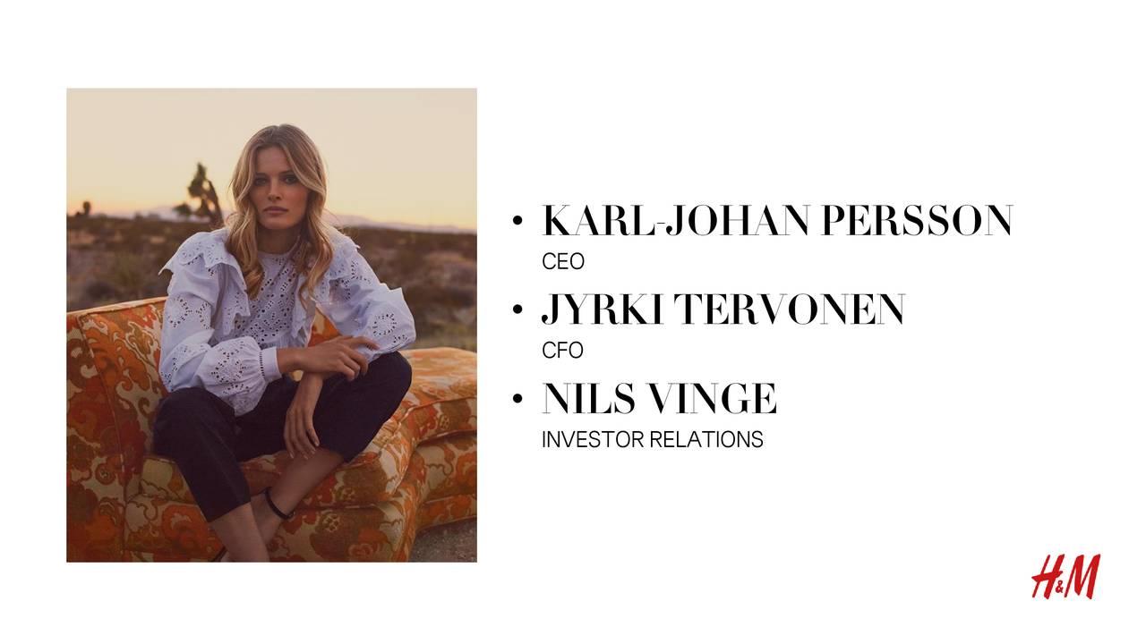 CEO • JYRKI TERVONEN CFO • NILS VINGE INVESTOR RELATIONS